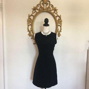 GAP Black Velvet Sleeveless Dress Size 6